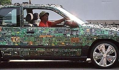 废旧电路板变成一件件不可思议的手工制作创意作品吧!   这个